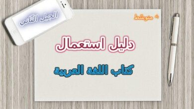 Photo of دليل استعمال كتاب اللغة العربية السنة الرابعة المتوسطة