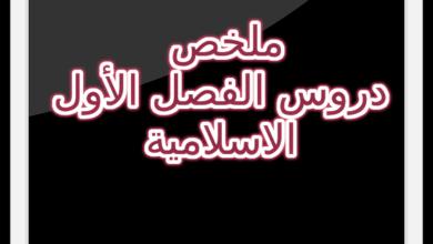 Photo of ملخص دروس الفصل الاول مادة التربية الاسلامية السنة الرابعة متوسط
